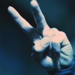 Hand Displaying Peace Sign